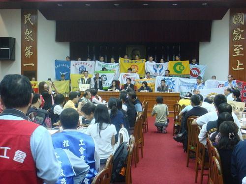 20091023工會法群賢樓九樓記者會